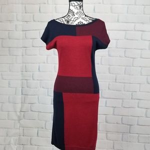 The limited sz s sweater color block dress